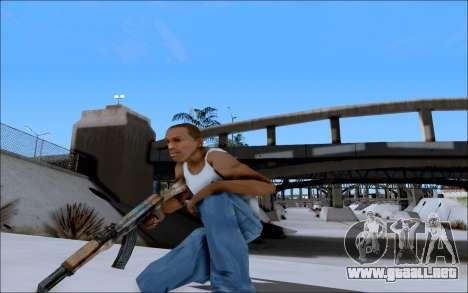 AK-47 Soviet para GTA San Andreas sucesivamente de pantalla