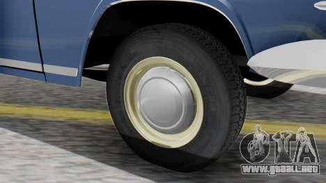 GAZ 21 Volga v1 para GTA San Andreas vista posterior izquierda