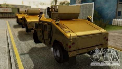PR BF2 US Army UpArmored Humvee Armed with MK19 para GTA San Andreas left