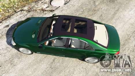 GTA 5 Mercedes-Benz S500 W221 v0.3.1 [Alpha] vista trasera
