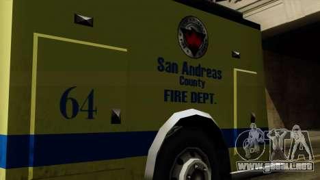 SAFD SAX Airport Engine para la visión correcta GTA San Andreas