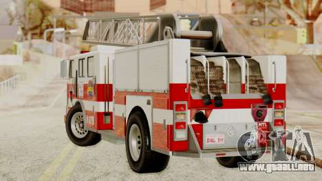 SAFD Fire Lader Truck para GTA San Andreas left