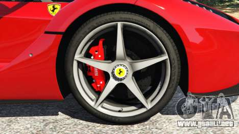 GTA 5 Ferrari LaFerrari 2015 v0.5 vista lateral trasera derecha