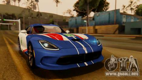 Dodge Viper SRT GTS 2013 IVF (HQ PJ) LQ Dirt para vista lateral GTA San Andreas
