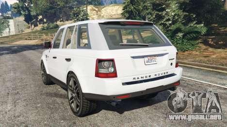GTA 5 Range Rover Sport 2010 v0.7 [Beta] vista lateral izquierda trasera