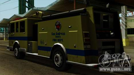 SAFD SAX Airport Engine para GTA San Andreas left