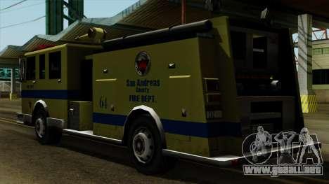 SAFD SAX Airport Engine para GTA San Andreas left