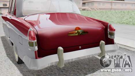 GAZ 21 Volga v2 para GTA San Andreas vista hacia atrás