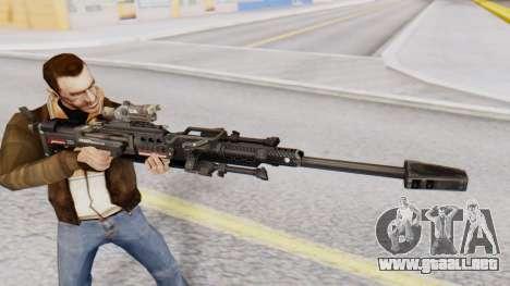 Sniper Rifle 8x Scope para GTA San Andreas tercera pantalla