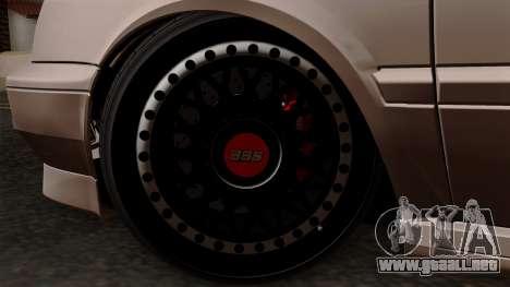 Volkswagen Golf 3 Shine para GTA San Andreas vista posterior izquierda
