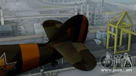 Hawker Hurricane Mk1 - Romania Nr. 1 para GTA San Andreas vista posterior izquierda