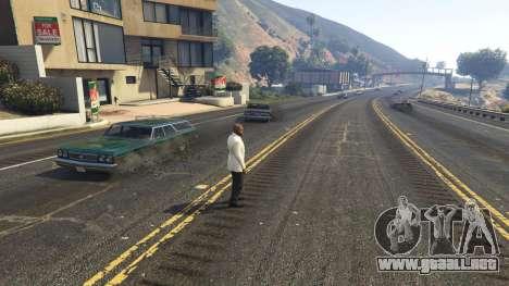 GTA 5 La explosión dejó a los neumáticos de los coches