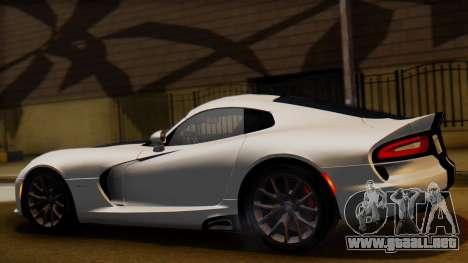 Dodge Viper SRT GTS 2013 IVF (HQ PJ) LQ Dirt para GTA San Andreas left