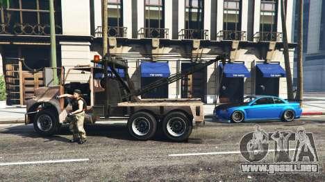 GTA 5 Llamar a un camión de remolque v1.3 segunda captura de pantalla