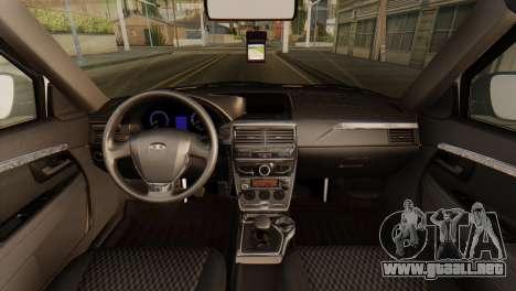 Lada 2170 Priora de la policía de tráfico de la  para la visión correcta GTA San Andreas