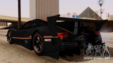 Pagani Zonda Revolucion 2015 para GTA San Andreas left