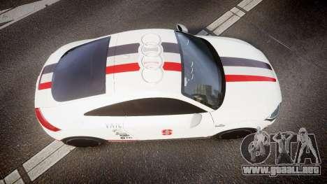Audi TT RS 2010 Shelley para GTA 4 visión correcta