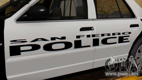 Police SF 2013 para la visión correcta GTA San Andreas