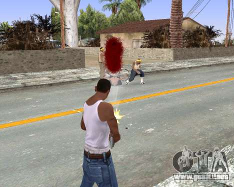 Blood Effects para GTA San Andreas tercera pantalla