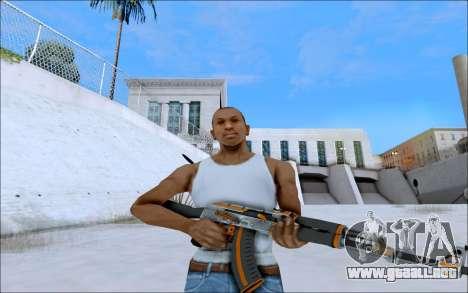 AK-47 Carbone Edition para GTA San Andreas segunda pantalla