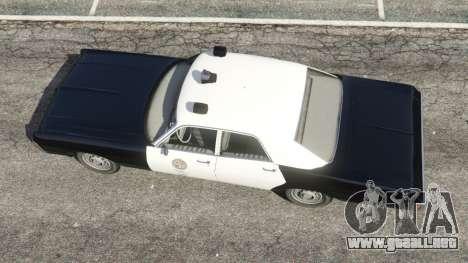 GTA 5 Dodge Polara 1971 Police v3.0 vista trasera