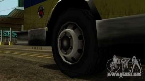 SAFD SAX Airport Engine para GTA San Andreas vista posterior izquierda
