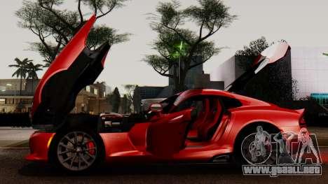 Dodge Viper SRT GTS 2013 IVF (MQ PJ) LQ Dirt para la vista superior GTA San Andreas