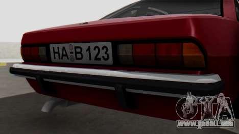 Opel Manta B1 para GTA San Andreas vista hacia atrás