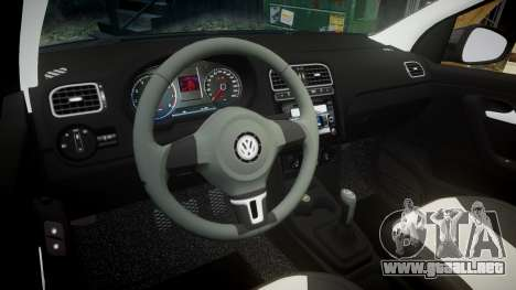 Volkswagen Polo para GTA 4 vista interior