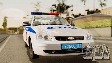 Lada 2170 Priora de la policía de tráfico de la  para GTA San Andreas