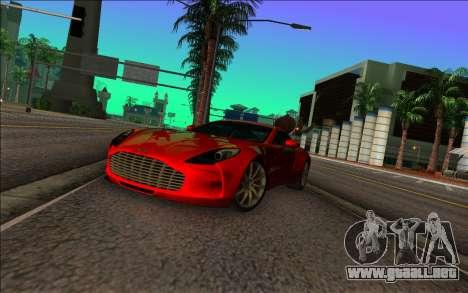 Aston Martin One-77 para GTA Vice City visión correcta