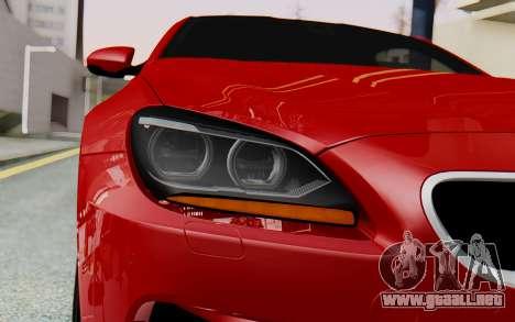 BMW M6 2013 v1.0 para visión interna GTA San Andreas