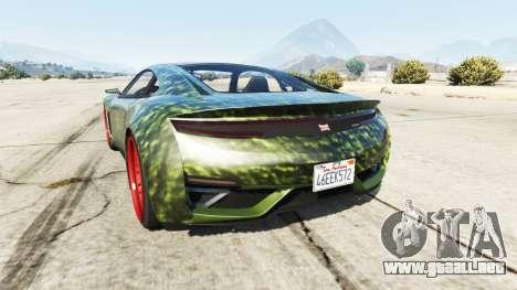 GTA 5 Dinka Jester (Racecar) Hulk vista lateral izquierda trasera