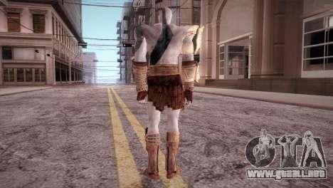 God Of War 3 Kratos Blue para GTA San Andreas tercera pantalla