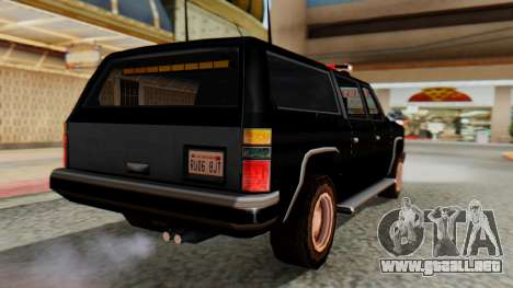 FBI Rancher with Lightbars para GTA San Andreas left