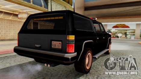 FBI Rancher with Lightbars para GTA San Andreas left