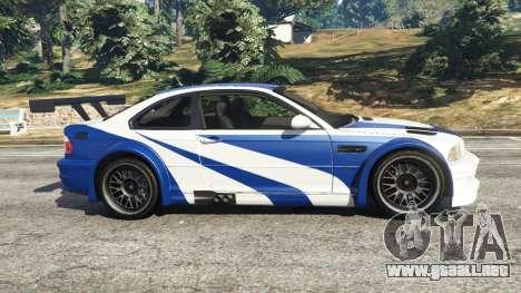 GTA 5 BMW M3 GTR E46 Most Wanted vista lateral izquierda