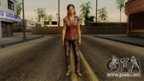 Tess from The Last of Us para GTA San Andreas segunda pantalla