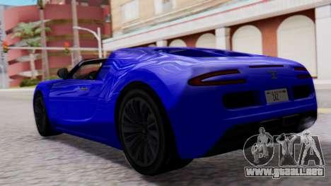 GTA 5 Truffade Adder Convertible para GTA San Andreas left