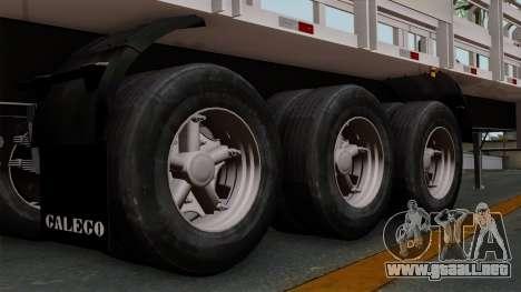 Trailer Rejas Gas para GTA San Andreas vista posterior izquierda