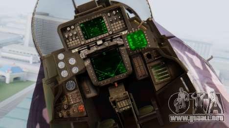 F-14D Zipang para GTA San Andreas vista hacia atrás
