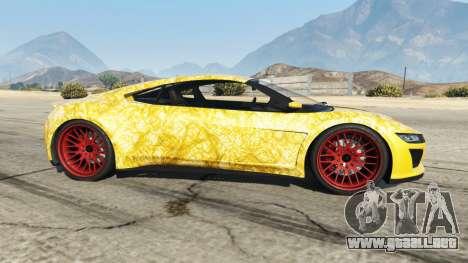 Dinka Jester (Racecar) Gold para GTA 5