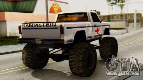 Nueva pintura original de Un Monstruo para GTA San Andreas left
