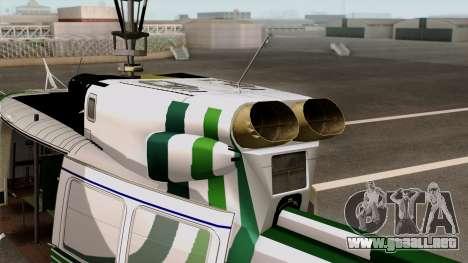 Bell UH-1N NAJA para GTA San Andreas vista posterior izquierda