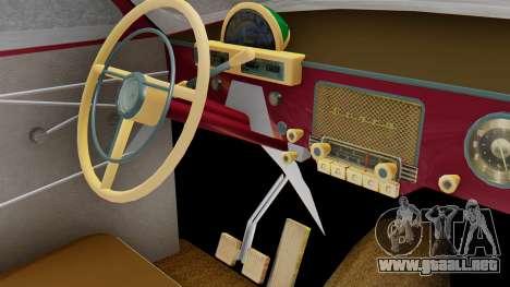 GAZ 21 Volga v3 para GTA San Andreas vista hacia atrás