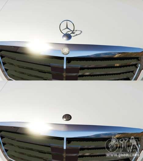 GTA 5 Mercedes-Benz S500 W221 v0.3 [Alpha] vista desde arriba