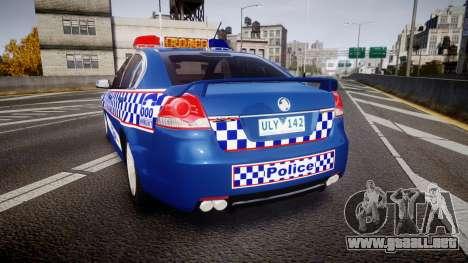 Holden VE Commodore SS Highway Patrol [ELS] v2.0 para GTA 4 Vista posterior izquierda