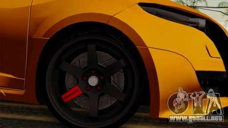 Renault Megane Sport HKNgarage para GTA San Andreas vista posterior izquierda