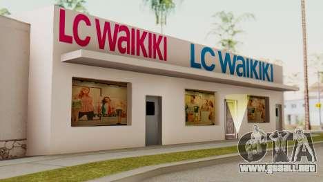 LC Waikiki Shop para GTA San Andreas segunda pantalla