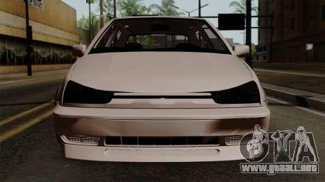 Volkswagen Golf 3 Shine para GTA San Andreas vista hacia atrás